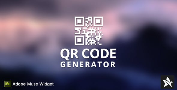 QR Code Generator for Adobe Muse