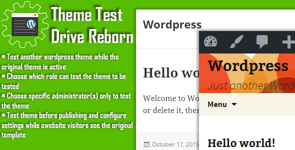 Wordpress Theme Test Drive Reborn