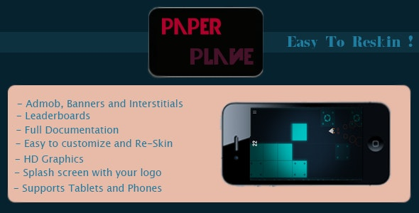 Paper Plane + AdMob+ Leaderboards - CodeCanyon Item for Sale