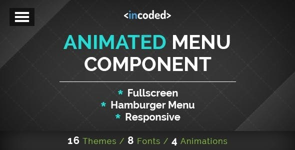Incoded Animated Menu Component