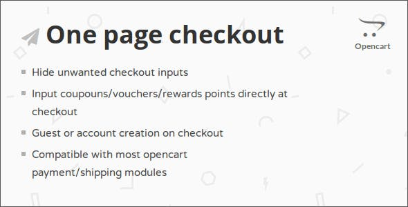 One Page Checkout Opencart Module