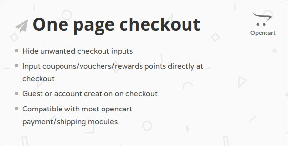 One Page Checkout Opencart Module - CodeCanyon Item for Sale