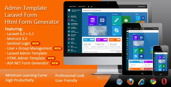 Laravel Form - HTML Form Generator - Admin Template