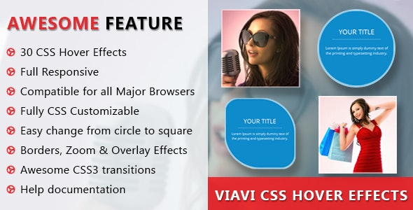 Viavi CSS3 Hover Effects - CodeCanyon Item for Sale