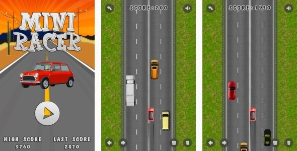 Mini Racer - HTML5 Game + Mobile + AdMob (Construct 3 | Construct 2 | Capx) - CodeCanyon Item for Sale