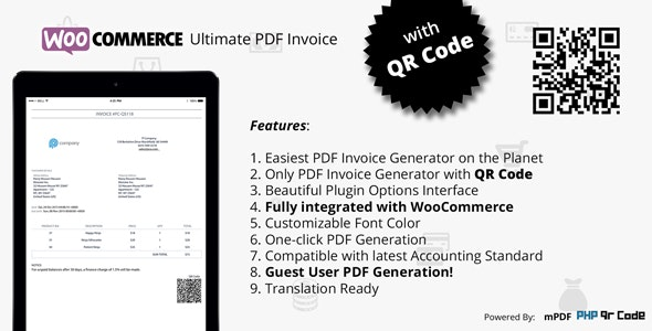 Woocommerce Ultimate PDF Invoice with QR Code - CodeCanyon Item for Sale