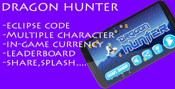 Dragon Hunter- Multiple character and admob