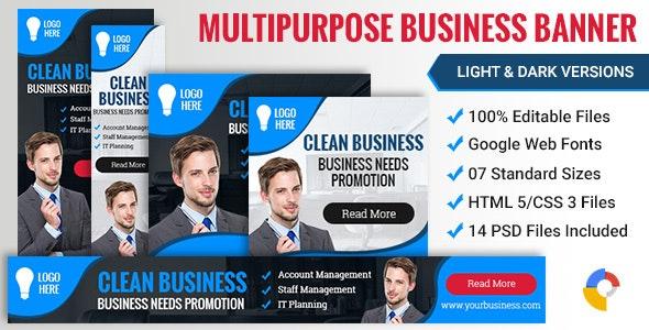 Web Design Business Banner 005 - 2 Variations  - CodeCanyon Item for Sale