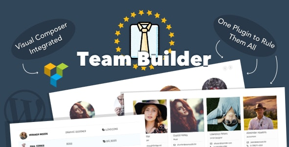 Team Builder — Meet The Team WordPress Plugin - CodeCanyon Item for Sale