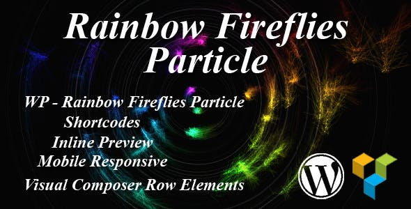 Rainbow Fireflies Particle