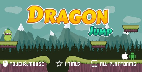 Dragon Jump-html5 mobile game