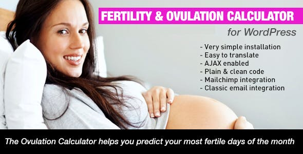 Fertility and Ovulation Calculator for WordPress