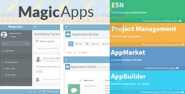 MagicApps - LowCode / NoCode Social WebApps - CodeCanyon Item for Sale