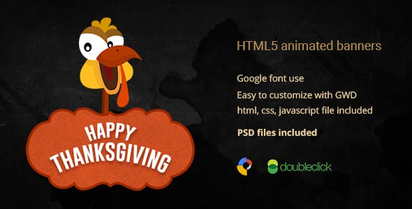 Thanksgiving | HTML5 Animated Banner