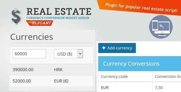 Currency Converter PHP Scripts from CodeCanyon