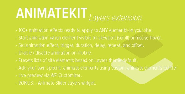 AnimateKit - Animation Tools for Layers - CodeCanyon Item for Sale