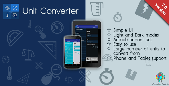 Simple Unit Converter - CodeCanyon Item for Sale