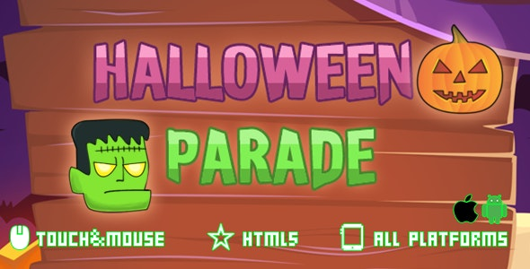 Halloween Parade - HTML5 Mobile Game - CodeCanyon Item for Sale