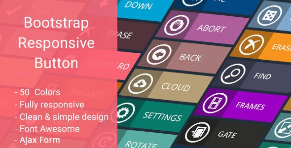 Bootstrap Responsive Button - CodeCanyon Item for Sale