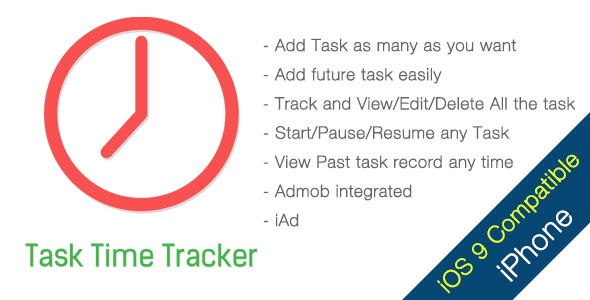 Task Time Tracker iPhone App - CodeCanyon Item for Sale