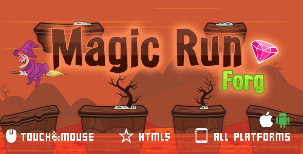 Magic Run-html5 mobile game - CodeCanyon Item for Sale