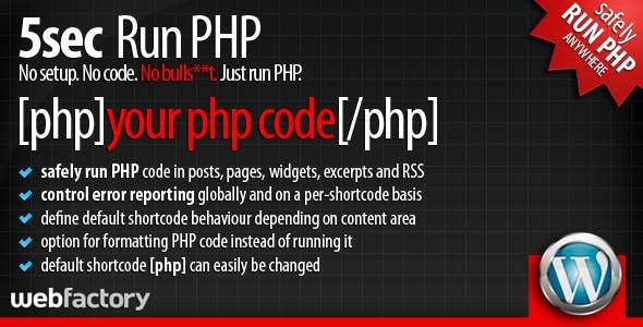 5sec Run PHP