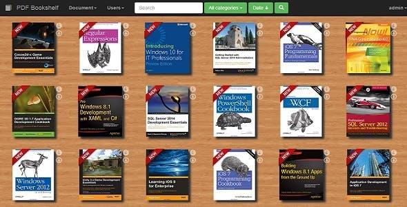 PDF Bookshelf - A responsive MVC bookshelf app