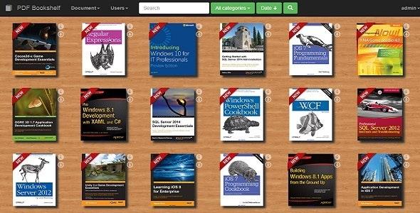 PDF Bookshelf - A responsive MVC bookshelf app - CodeCanyon Item for Sale