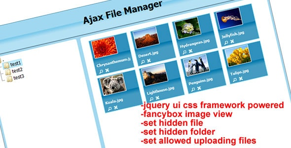 Ajax File Manager - CodeCanyon Item for Sale