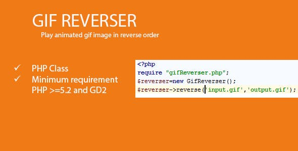 GifReverser - Play animated gif in reverse order