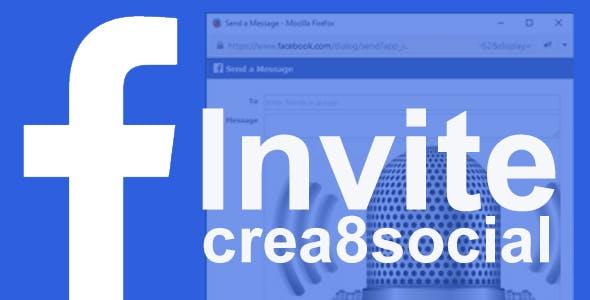 crea8social Facebook Invite