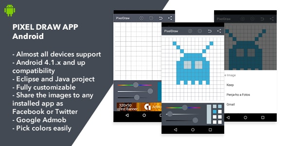 Pixel Draw Android App - CodeCanyon Item for Sale