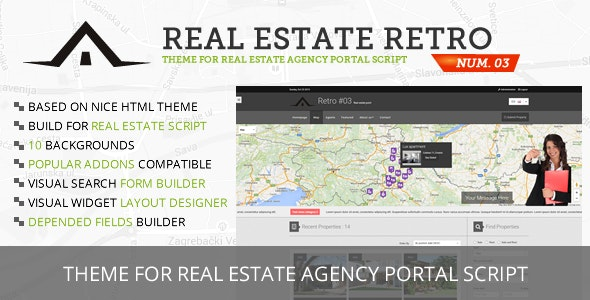 Real Estate Retro Template #03 - CodeCanyon Item for Sale