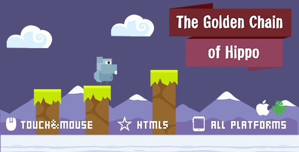 The Golden Chain Of Hippo-html5 mobile game - CodeCanyon Item for Sale