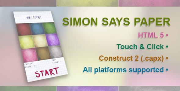 Simon Says Paper