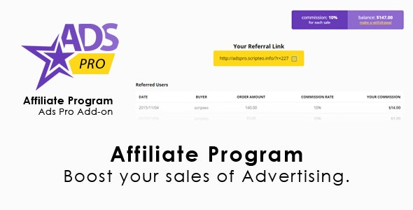 Ads Pro Add-on - WordPress Affiliate Program - CodeCanyon Item for Sale