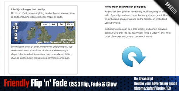 Friendly Flip 'n' Fade - CSS3 flip, fade and glow! - CodeCanyon Item for Sale