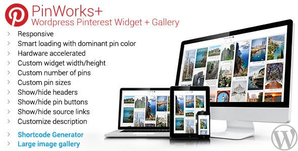 PinWorks+ Wordpress Pinterest Gallery Widget