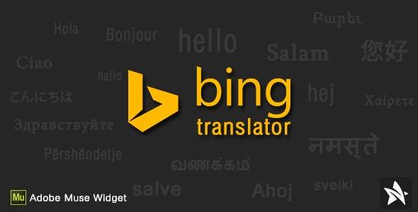 Bing Translator for Adobe Muse