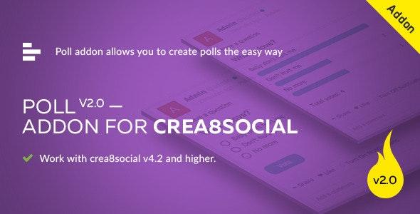 Poll addon ver. 2.0 for crea8social - CodeCanyon Item for Sale