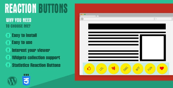 Reaction Buttons - CodeCanyon Item for Sale