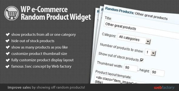 WP e-Commerce Random Product Widget - CodeCanyon Item for Sale