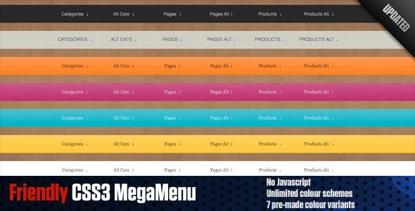 Friendly CSS3 MegaMenu(Horiz & Vert) w/transitions