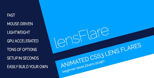 lensFlare - Animated CSS3 Lens Flares