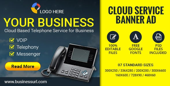 GWD Cloud Service | Business Banner - 7 Sizes