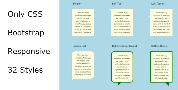 CSS Bubbles and Tooltips - CodeCanyon Item for Sale