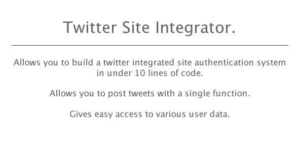 Powerful Twitter Authenticator/ Posting Script - CodeCanyon Item for Sale