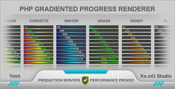 PHP Gradiented Progress Renderer
