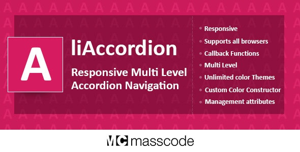 Responsive Multi Level Accordion - liAccordion - CodeCanyon Item for Sale