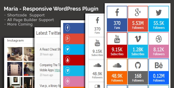 Maria - All in One Social Share WordPress Plugin - CodeCanyon Item for Sale